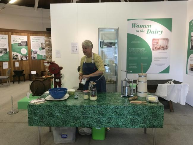 Dairy demonstration at Hawes museum