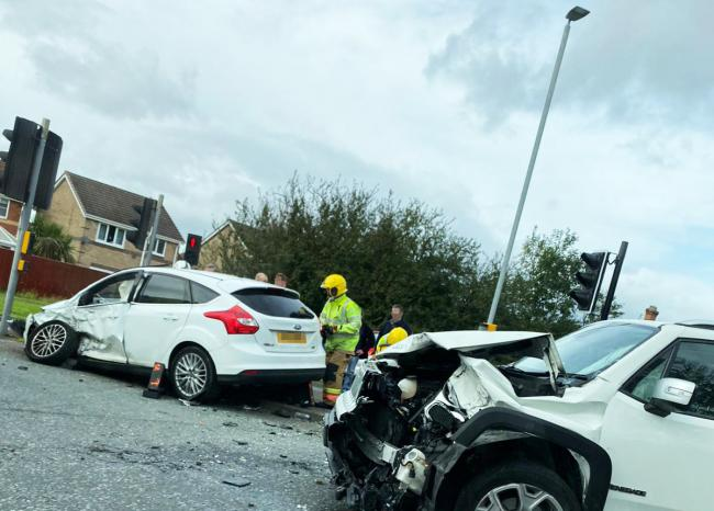 Emergency services attend two-car crash in Newton Aycliffe