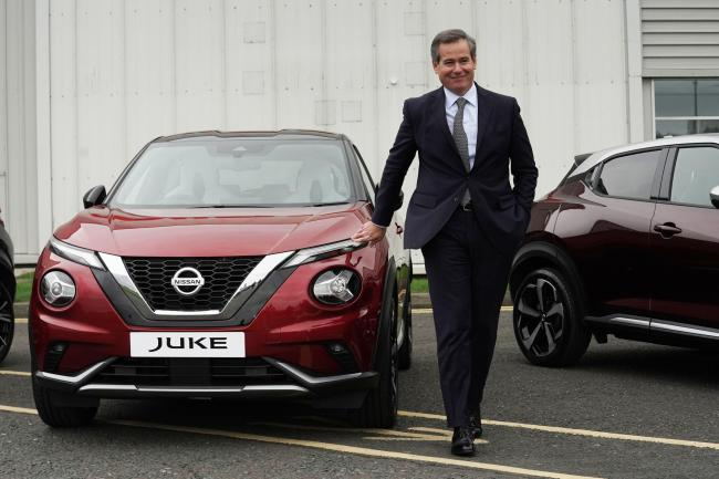 Chairman of Nissan Europe, Gianluca de Ficchy, at their plant in Sunderland after workers were told that the car manufacturer is to end the night shift at its UK plant. PA Photo. Picture date: Thursday October 10, 2019. The Sunderland plant makes the Qash