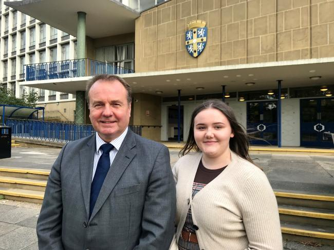 Michael Banks, chair of the Durham Safeguarding Children Partnership, and Amy Waites, County Durham's young people's commissioner
