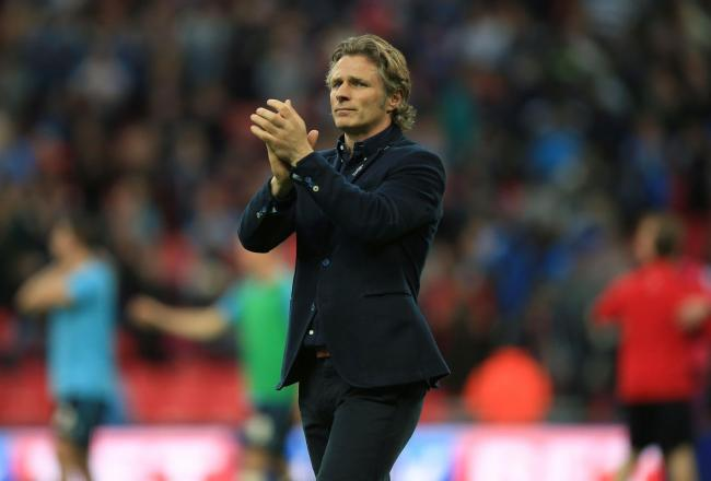 Wycombe Wanderers' Manager Gareth Ainsworth appauds the fans after his teams defeat in the Sky Bet League Two Play Off Final at Wembley Stadium, London. PRESS ASSOCIATION Photo. Picture date: Saturday May 23, 2015. See PA story SOCCER League Two. Phot
