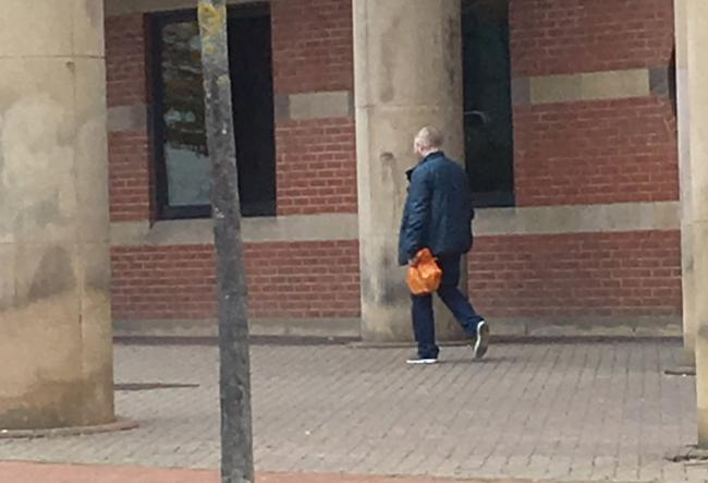 Tony Lunn leaving Teesside Crown Court