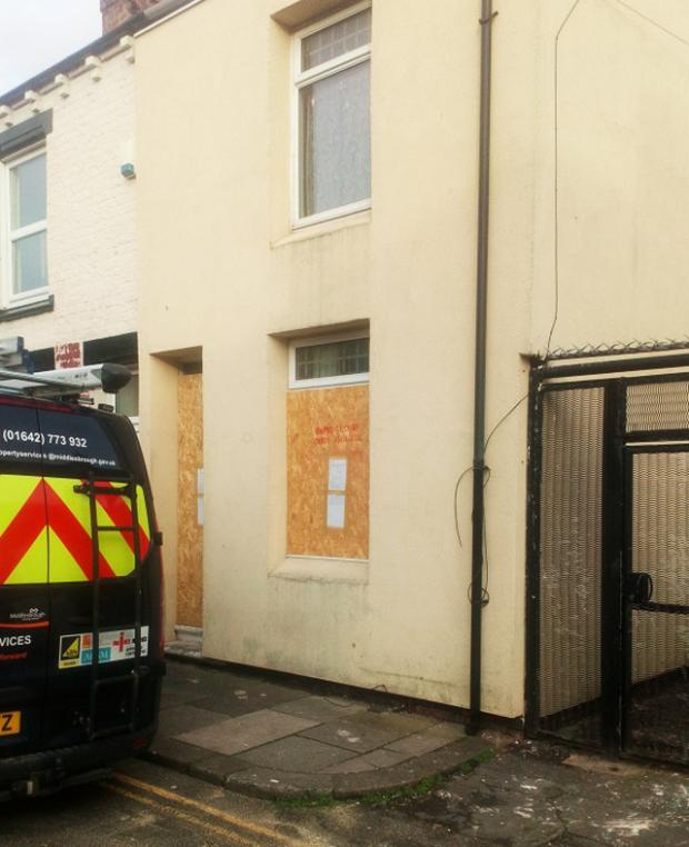 The Northern Echo: 97 Portman Street in the Gresham area of Middlesbrough, which has been shut down. Picture: Middlesbrough Council