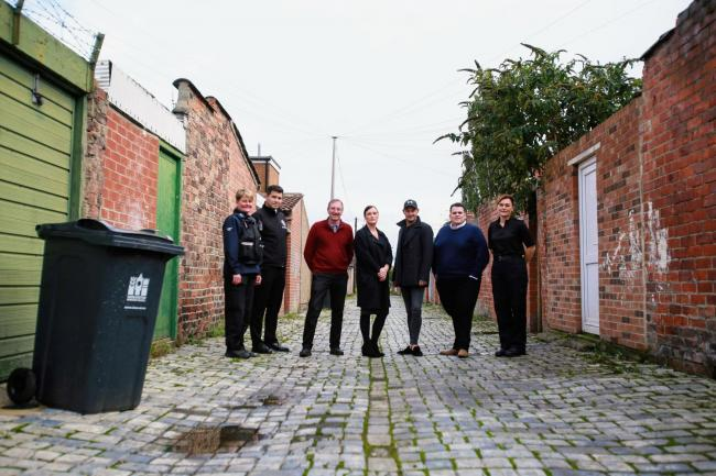 Launch of The Back Lanes Project - a new joint initiative between Darlington Borough Council, County Durham and Darlington Fire & Rescue Service (CDDFRS) and local partners. The project aims to encourage local people to keep the back streets of Darlin