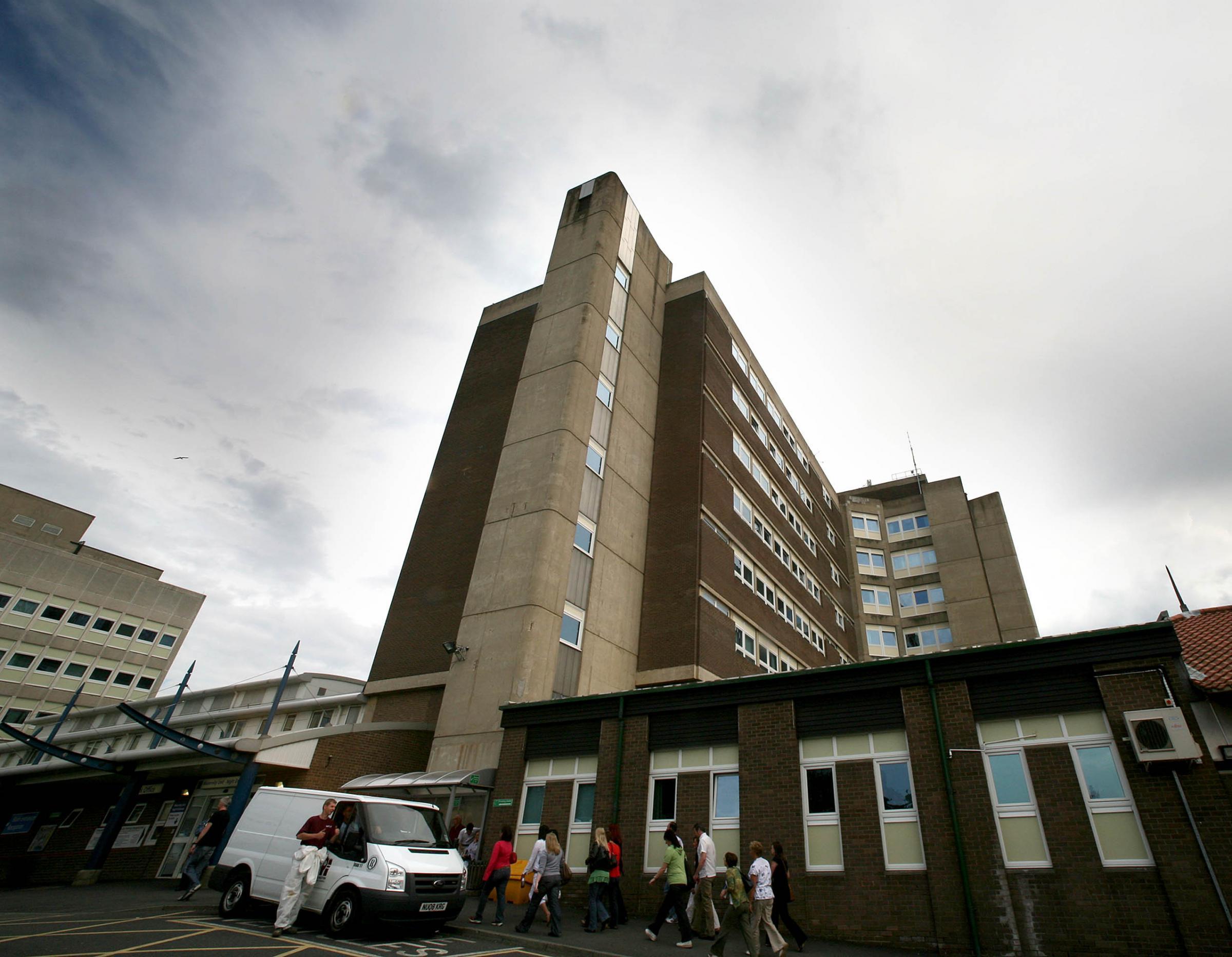 Wards locked at University Hospital of North Tees in Stockton