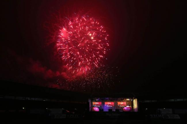 A fireworks display takes place at the Norther Echo Arena in Darlington. Picture: CHRIS BOOTH.