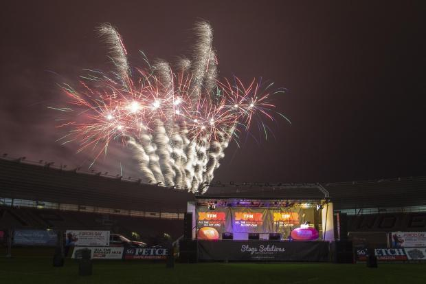 The Northern Echo: Fireworks at Darlington Mowden Park Northern Echo Arena