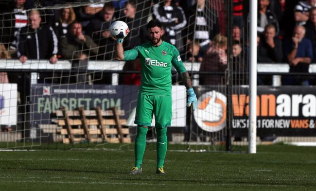Darlington goalkeeper Liam Connell. Picture: CHRIS BOOTH