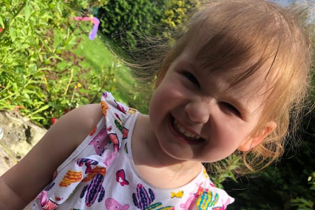 Mia, two, was a 'trooper' throughout her chemotherapy treatment