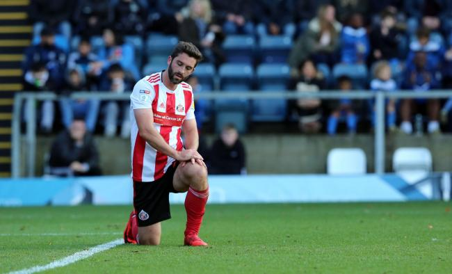 Will Grigg shows his disappointment during Sunderland's weekend defeat at Wycombe Wanderers