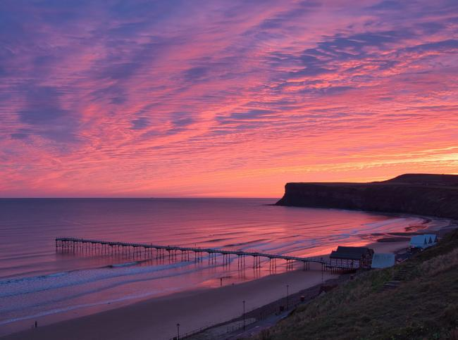 The sunrise over Saltburn Pier. Picture: Ken Bladen / Northern Echo Camera Club