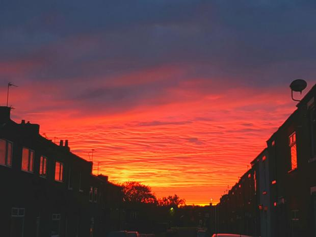 The Northern Echo: The sunrise over North Road, in Darlington, taken by Northern Echo Camera Club member Pat Blewitt on his phone
