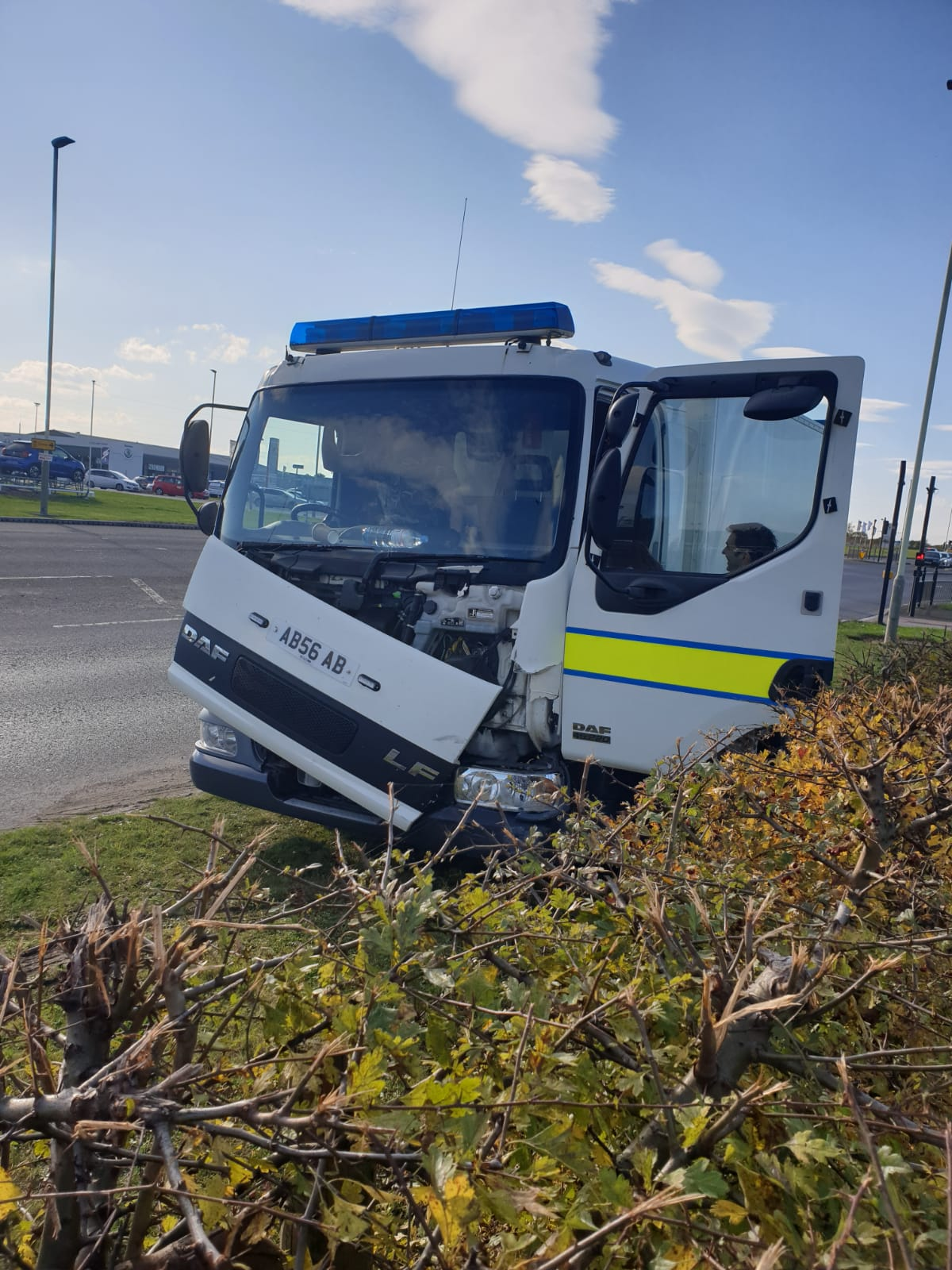 Bomb disposal vehicle' involved in crash in Darlington