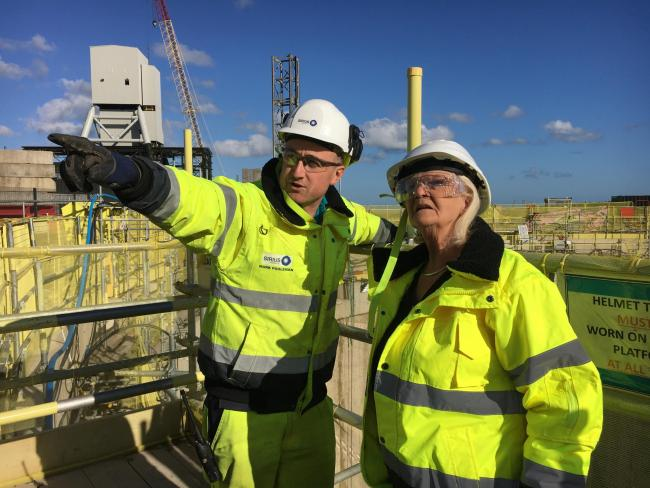Councillor Mary Lanigan with Sirius Project Engineer Mark Pooleman during a site visit.