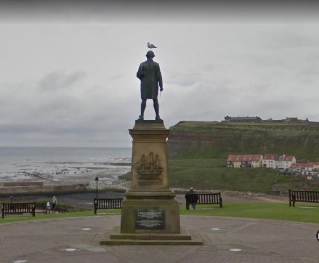 The Captain Cook memorial statue in an iconic Whitby landmark Picture Google