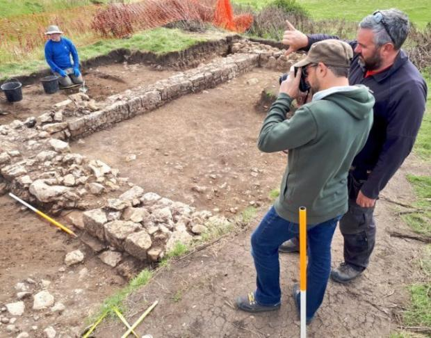 The Northern Echo: Some of the walls the community archaeologists found at Bishop Middleham. Picture courtesy of Dig Ventures