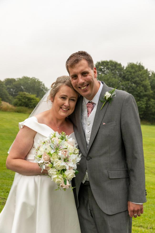Ian Dowson of Bishop Auckland and Helen Minall of Shildon, who were married at the Civic Hall, Shildon on July 27 Picture: IAIN REYNOLDS, CASUAL CAPTURES