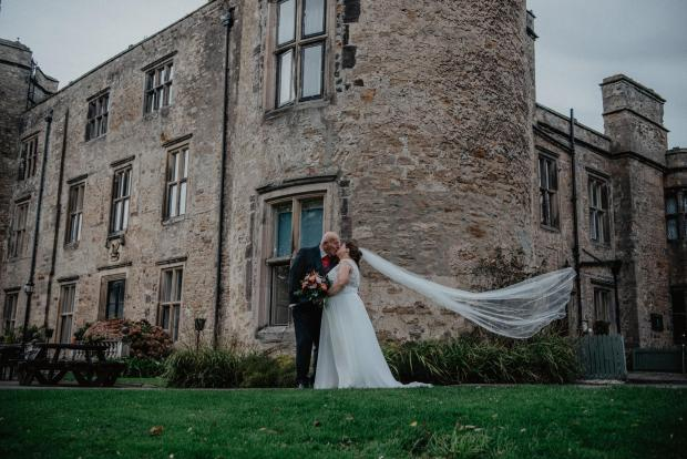 The Northern Echo: Kenneth Boddy and Mandy Sanderson, both of Newton Aycliffe, married at Walworth Castle on October 11. Picture: CLAIRE HIRST