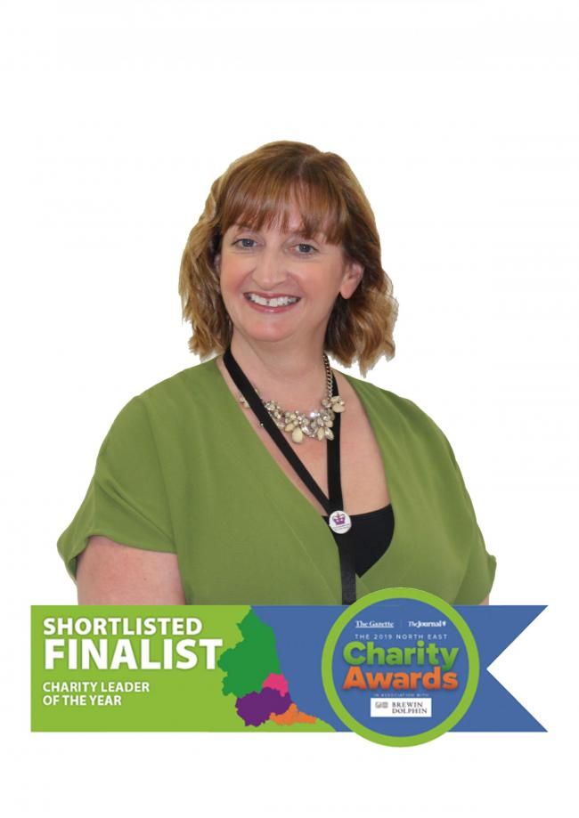 Carol Gaskarth was shortlisted as a finalist for this year's North East Charity Awards