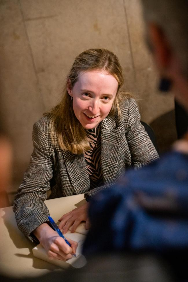 Louise Powell signs copies of Common People Picture: RICHARD KENWORTHY