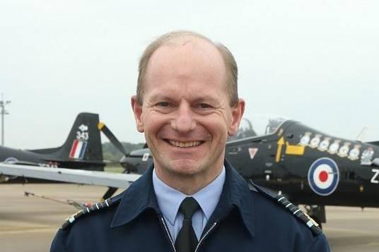 Air Chief Marshal Mike Wigston on a recent visit to North Yorkshire