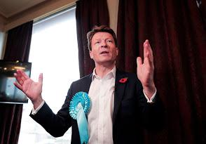 The Northern Echo: Brexit party chairman and prospective MP for Hartlepool Richard Tice launches his campaign at the town's Headland . Photograph: Stuart Boulton