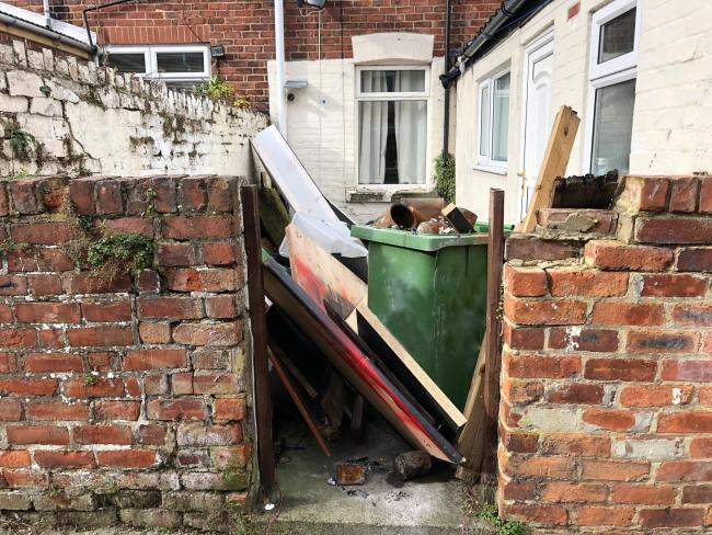 The multi-agency walkabout identified fly-tipping issues throughout Shildon