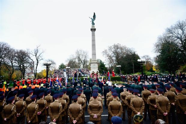 The Northern Echo: Remembrance Sunday service held at Sunderland's war memorial. Picture: North News & Pictures