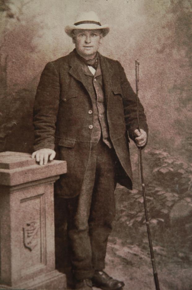 The Northern Echo: Billy Welch Great great grand father David Welch Picture: SARAH CALDECOTT.