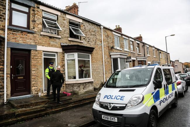 The scene of the 2016 house fire on Albert Street, Shildon, which left Troy McKinlay severely burned. Picture: TOM BANKS