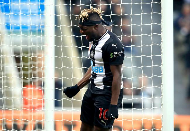 Allan Saint-Maximin shows his frustration after missing a chance in Newcastle United's recent home win over Bournemouth. Like his Magpies team-mate, Miguel Almiron, the Frenchman is still to claim his first goal for the club