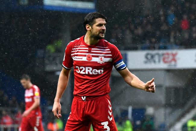 George Friend in action for Middlesbrough