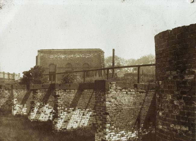 The remains of a section of the Stockton and Darlington railway in 1905