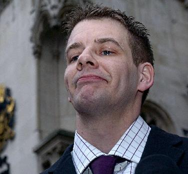 Andrew Adams pictured in 2007 after his conviction was quashed at the Court of Appeal