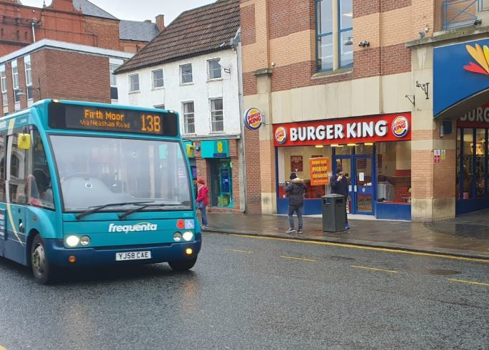 Arriva driver parked outside Burger King threatened in Darlington town centre
