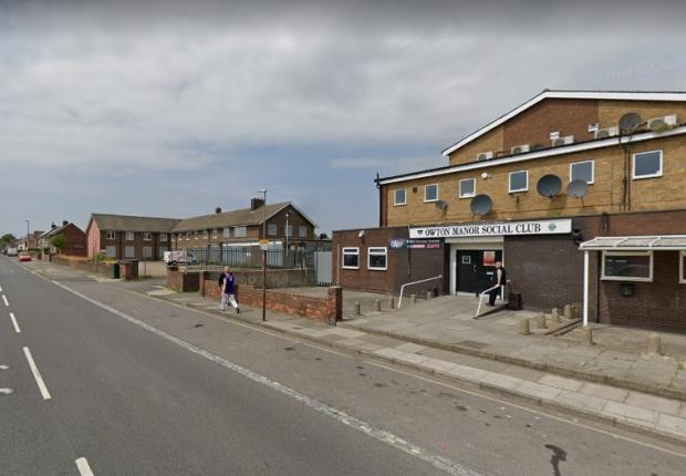 The Northern Echo: Owton Manor Social Club, near where Mrs Theasby was knocked over. Picture: GOOGLE