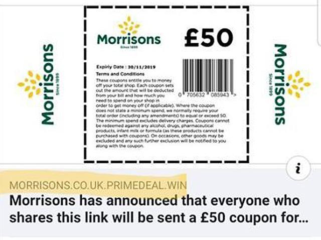 A bogus Morrison's voucher deal is currently circulating on social media