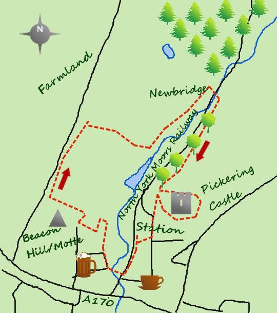 The Northern Echo: Pickering walk map