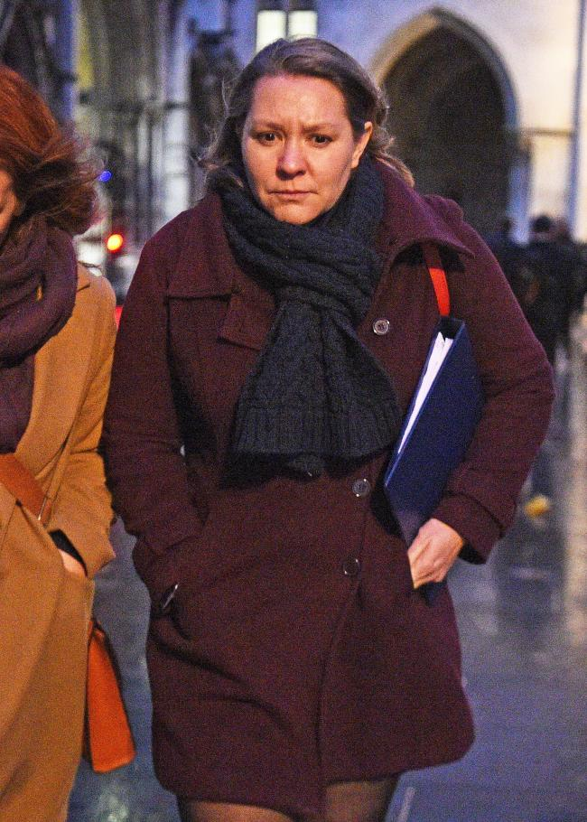 Labour Party candidate Anna Turley leaving the Royal Courts of Justice in London