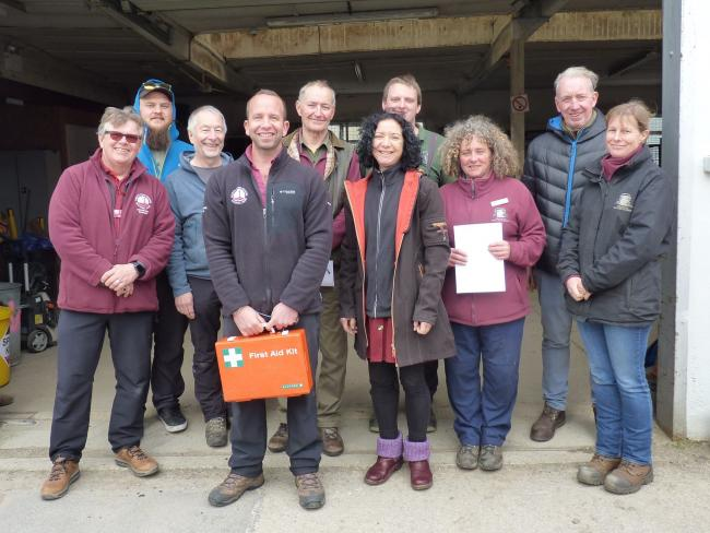 David Bream, far left, among staff from the North York Moors National Park Authority and volunteers