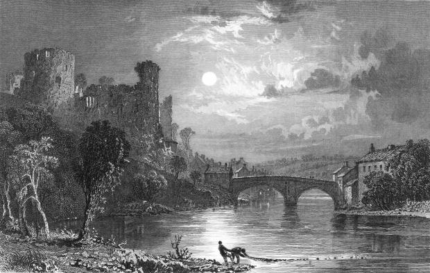 The Northern Echo: An 1830s etching of Barnard Castle, which was besieged for 11 days during December 1569