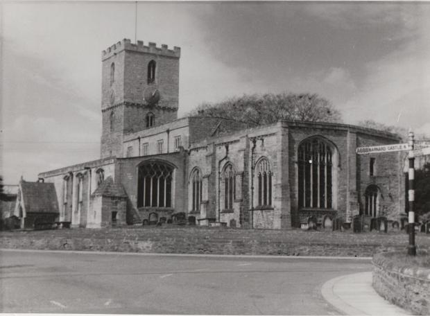 The Northern Echo: St Mary's Church, in Staindrop, in the 1950s was the centre of the 1569 rising, and may be the last parish church in England to have heard a Catholic mass