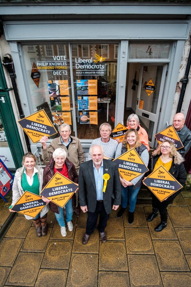 The new Lib Dem Richmond 'HQ' at Trinity Church Square Picture: GULLWING PHOTOGRAPHY