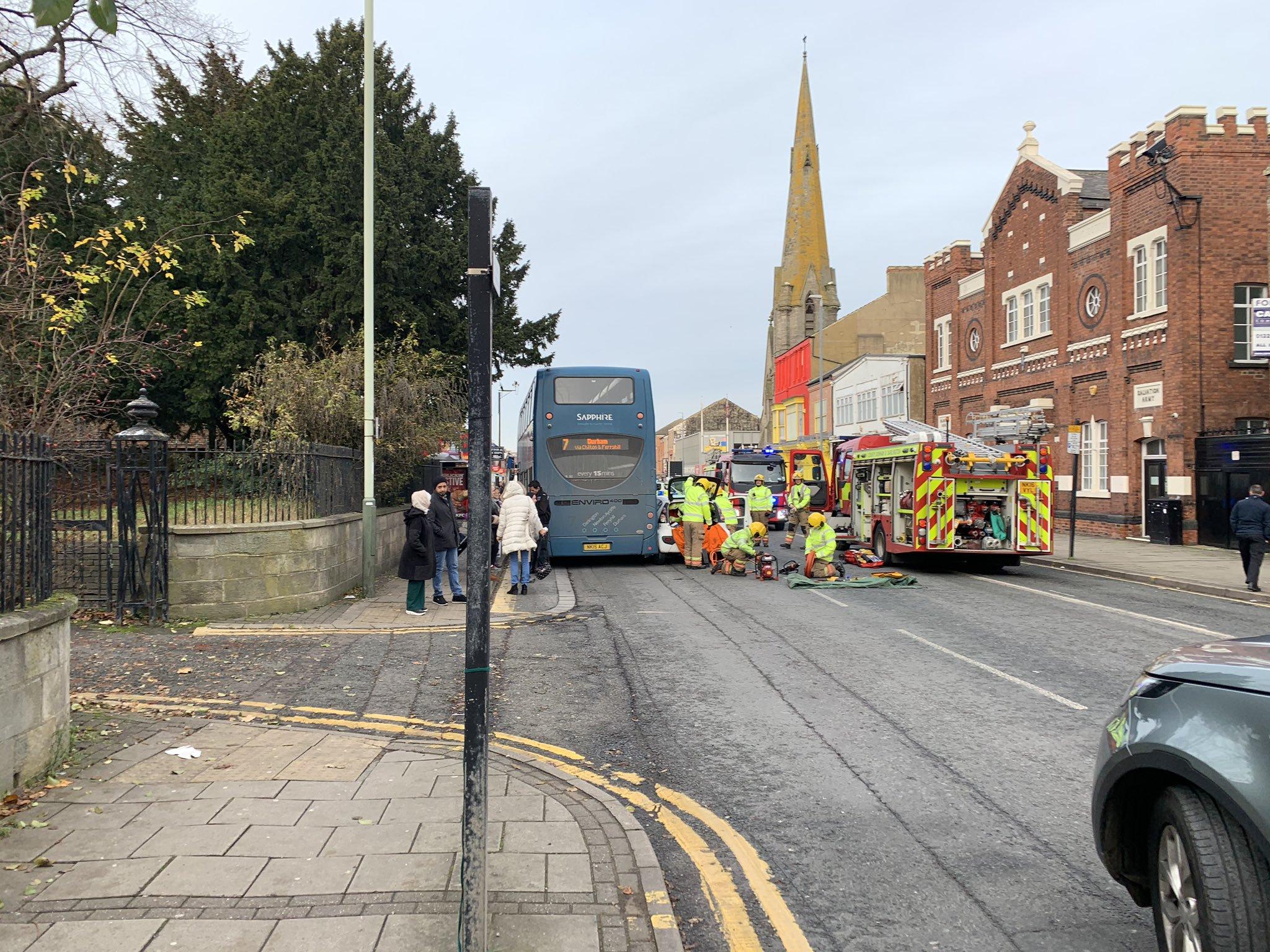 Crash involving Arriva Bus in Darlington town centre closes A167