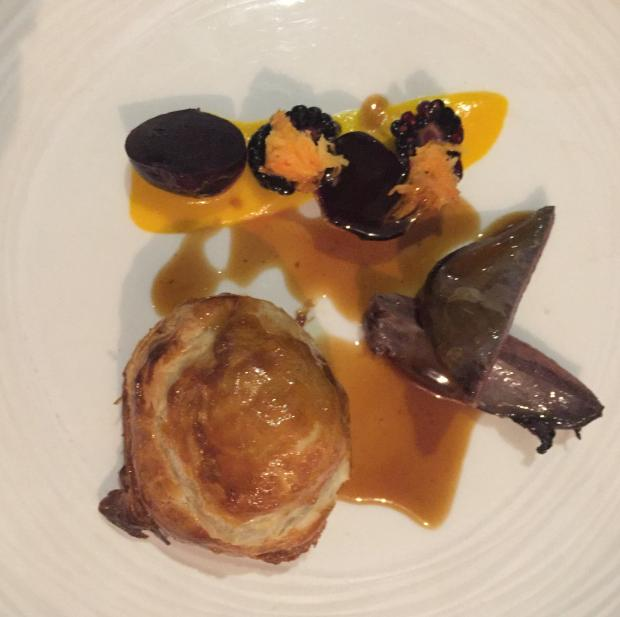 The Northern Echo: A starter of wood pidgeon with carrot, blackberries and beetroot