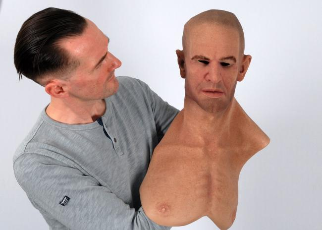 "A ""hyper-realistic"" silicone mask."