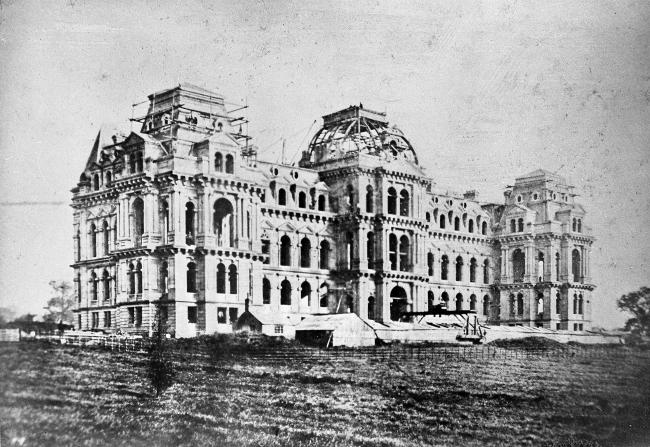 Bowes Museum under construction. Picture courtesy of the Bowes Museum