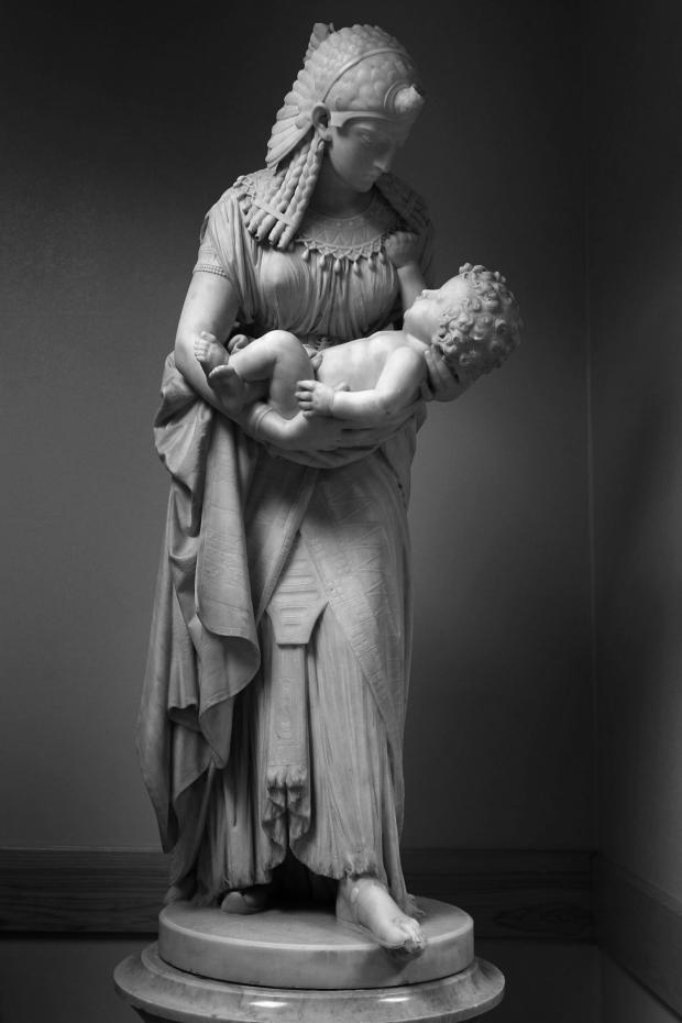 The Northern Echo: Rockliffe's prize possession: a statue of Pharoah's Daughter holding Moses which is on the sixth floor of Darlington Memorial Hospital