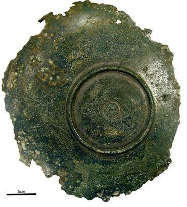 The Northern Echo: The 4th Century plate found when the Rockliffe golf course was being built