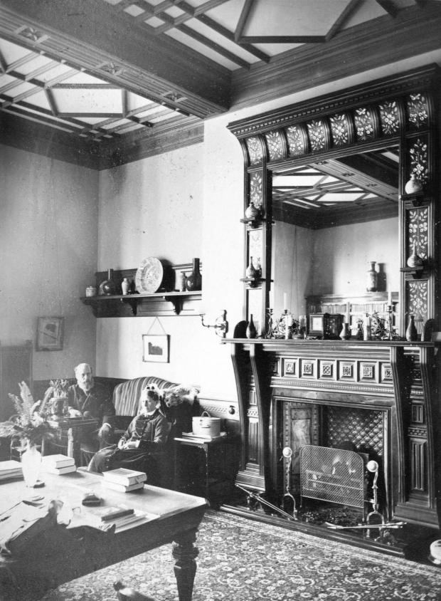 The Northern Echo: Alfred and Rachel Backhouse in their lounge at Rockliffe Hall – this room is largely intact in the hotel